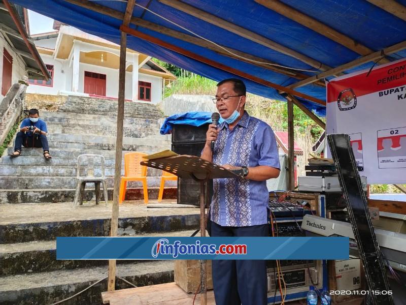 Foto : Agustinus Waruwu (Sekretaris Tim Pemenangan Paslon Aroli)